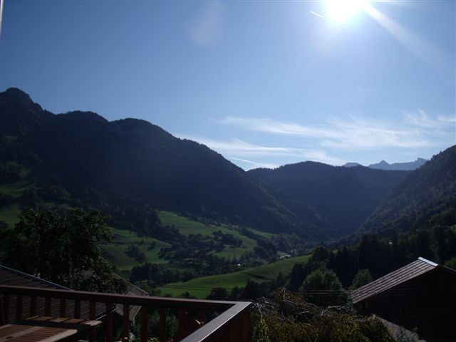 View from the balcony Location Chalet 72056 La Clusaz