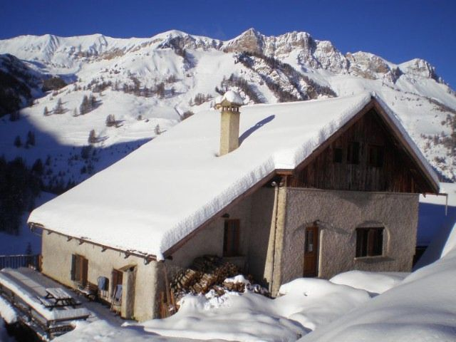 View of the property from outside Location Chalet 1575 Molines Saint-Véran