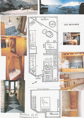 Map of property Location One-room apartment 1724 Les Menuires