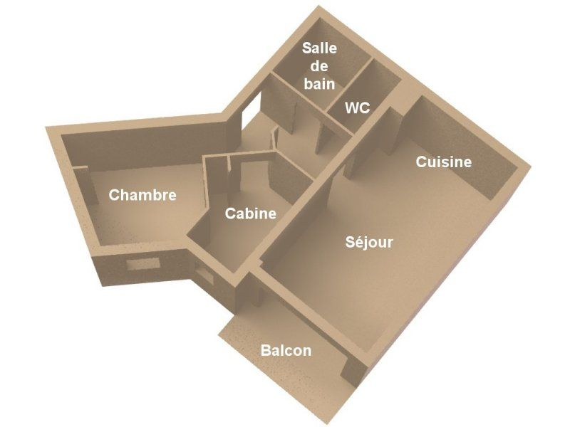 Map of property Location Apartment 1794 Méribel