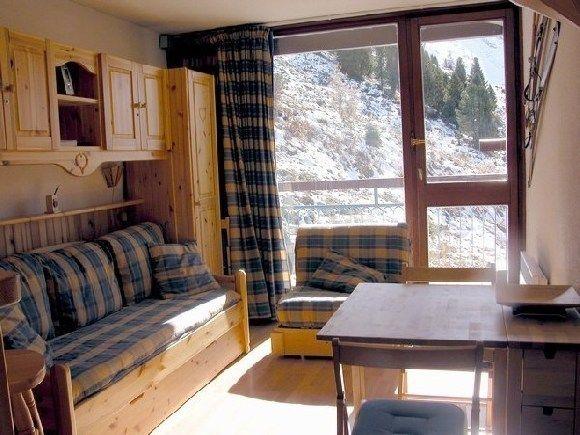 Lounge Location One-room apartment 211 Les Arcs