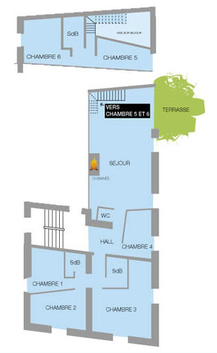 Map of property Location Apartment 26150 Valloire