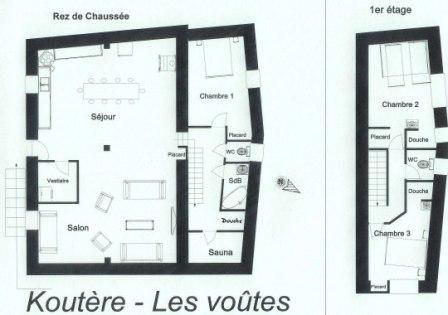 Map of property Location Chalet 26775 Les Menuires