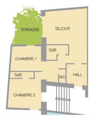 Map of property Location Apartment 27146 Valloire