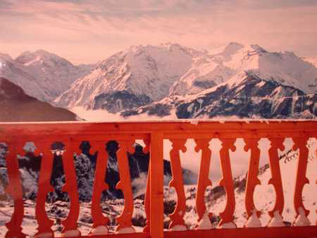 View from the balcony Location Apartment 42 Alpe d'Huez