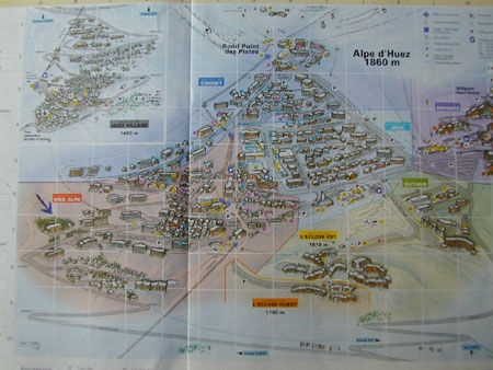Map of property Location Apartment 42 Alpe d'Huez