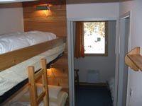 Open sleeping nook Location One-room apartment 536 Arvieux en Queyras