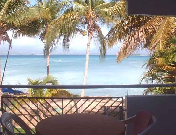 Terrace Location One-room apartment 8007 Gosier (Guadeloupe)