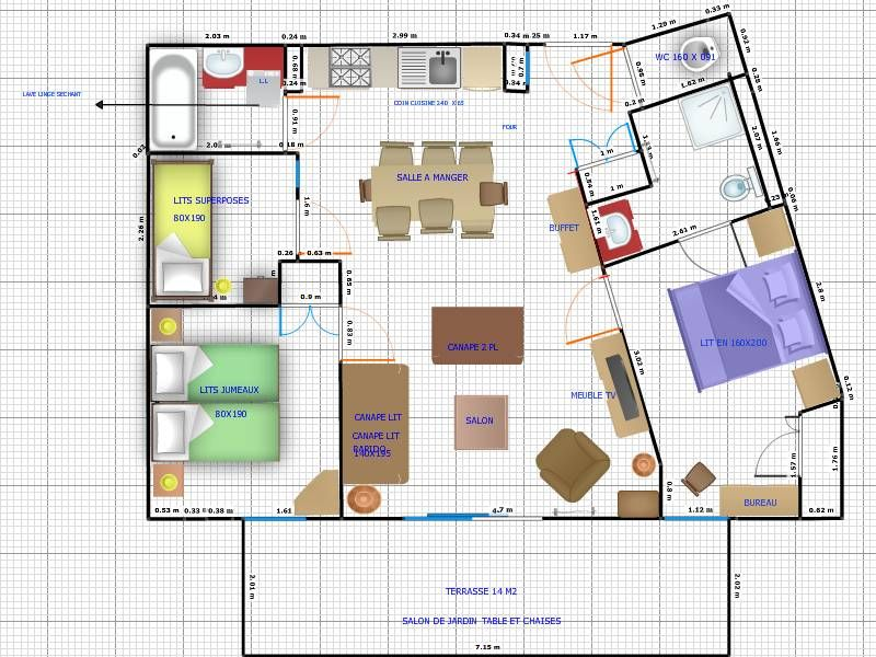 Map of property Location Apartment 66491 Les Saisies