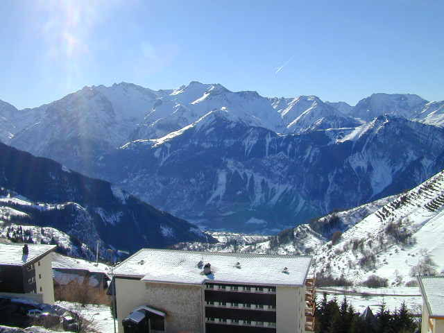 View from the terrace Location Apartment 64 Alpe d'Huez