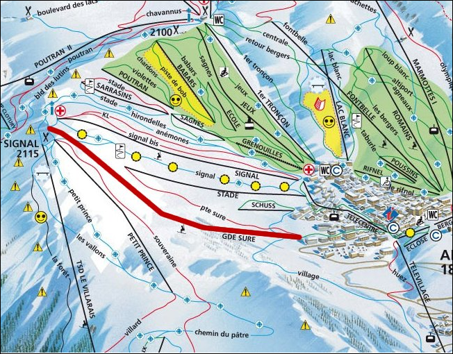 Area map Location Apartment 64 Alpe d'Huez