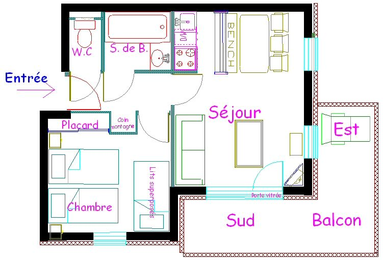 Map of property Location Apartment 65812 Méribel