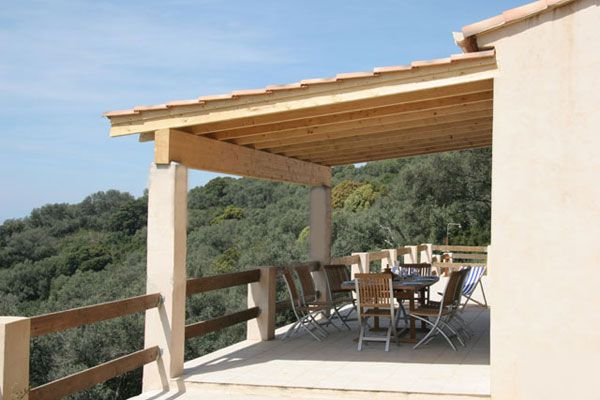View from the terrace Location Villa 87574 Propriano