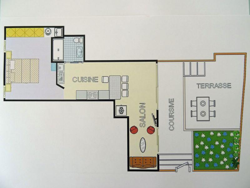 Map of property Location Apartment 111942 Porticcio
