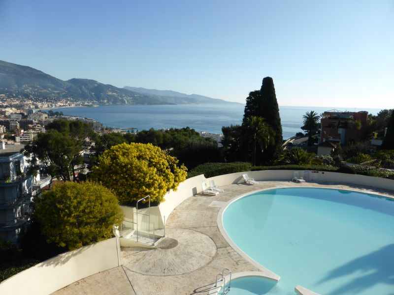 View from the terrace Location One-room apartment 94016 Roquebrune Cap Martin