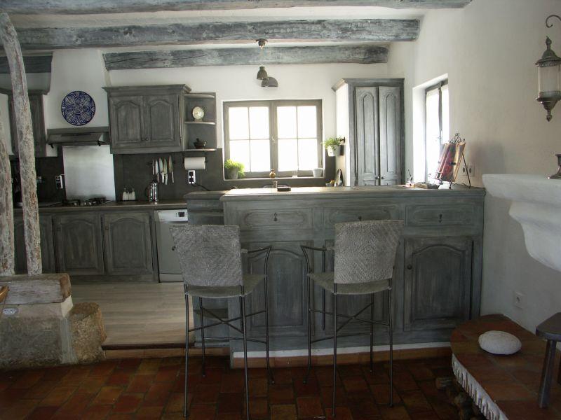 Open-plan kitchen Location Villa 94916 La Cadière d'Azur