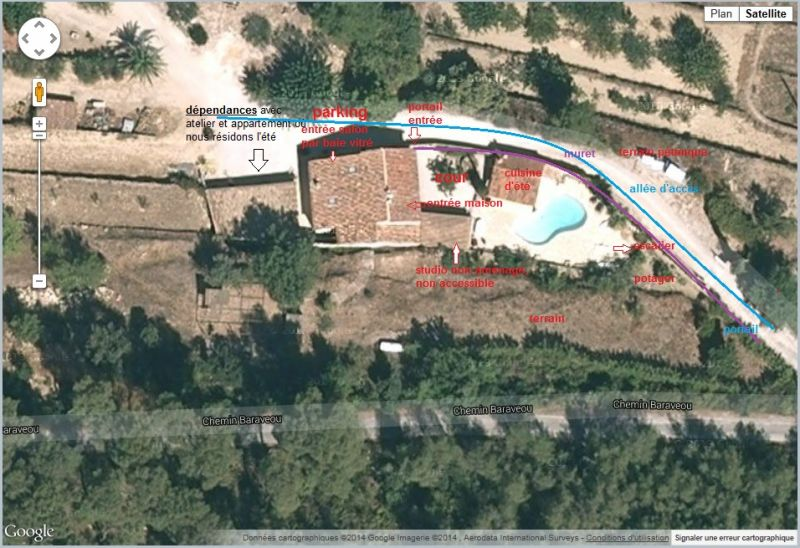 View of the property from outside Location Villa 94916 La Cadière d'Azur