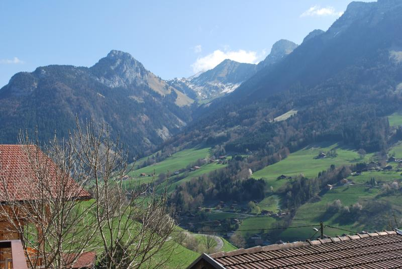 View from the balcony Location Chalet 72056 La Clusaz