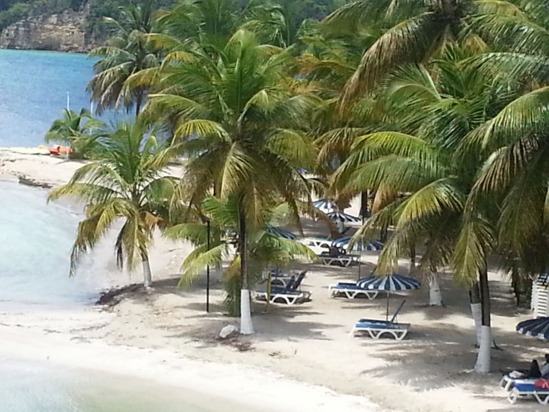 View from the terrace Location Apartment 86727 Gosier (Guadeloupe)