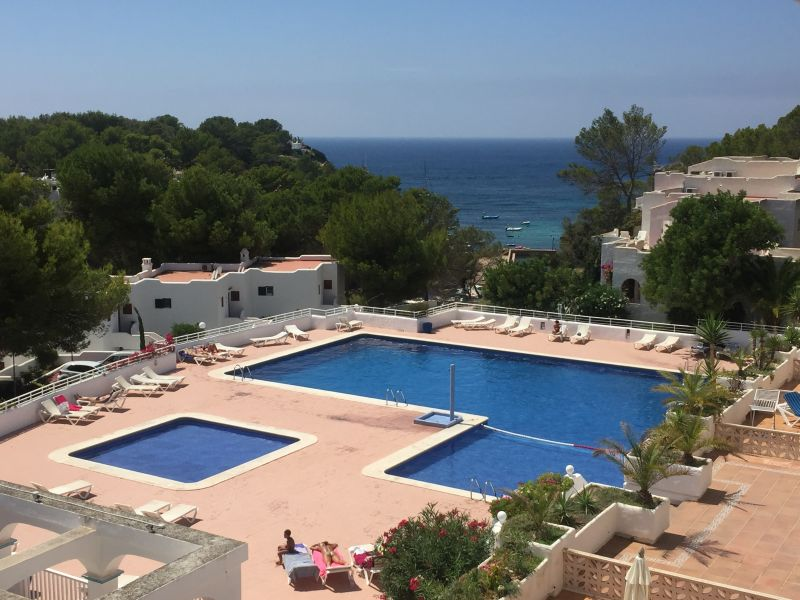 View from the terrace Location Apartment 110036 Cala Tarida