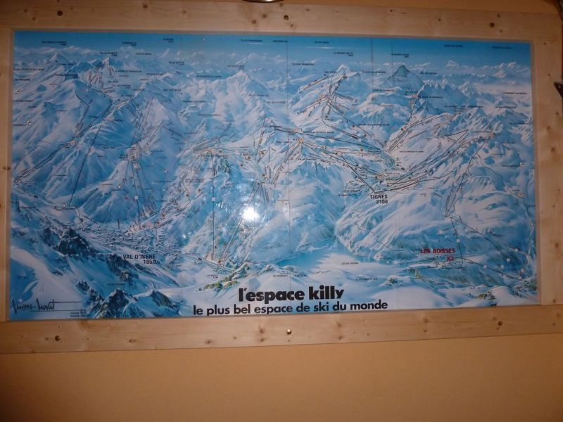 Map of property Location Chalet 116157 Tignes