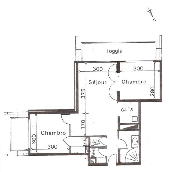 Map of property Location Apartment 80072 Le Corbier