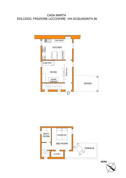 Map of property Location Vacation rental 80842 Dolcedo