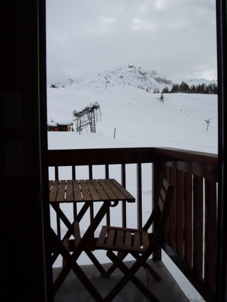 View from the terrace Location One-room apartment 106820 La Plagne