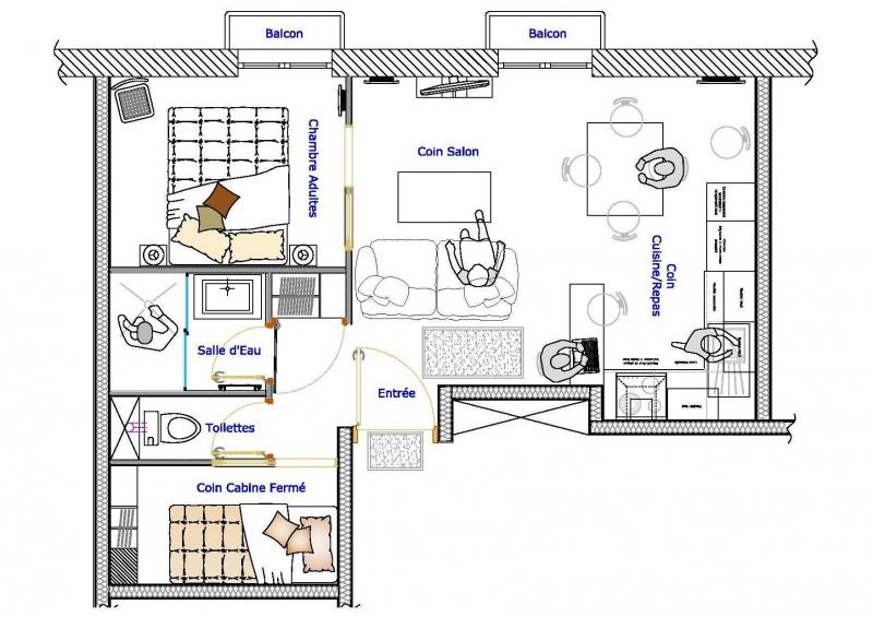 Map of property Location Apartment 76998 Cauterets