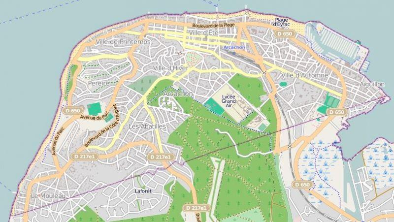 Area map Location Villa 96642 Arcachon