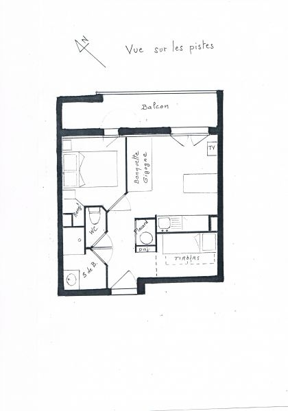 Map of property Location Apartment 1171 Les 2 Alpes