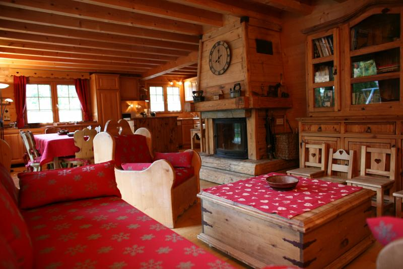 Living room Location Chalet 1412 Chamonix Mont-Blanc