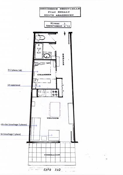 Map of property Location Apartment 15746 Piau Engaly