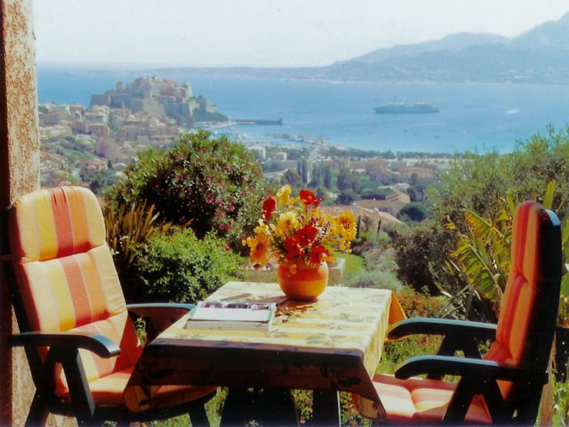 View from the terrace Location One-room apartment 18614 Calvi