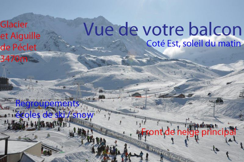 View from the balcony Location Apartment 20123 Val Thorens