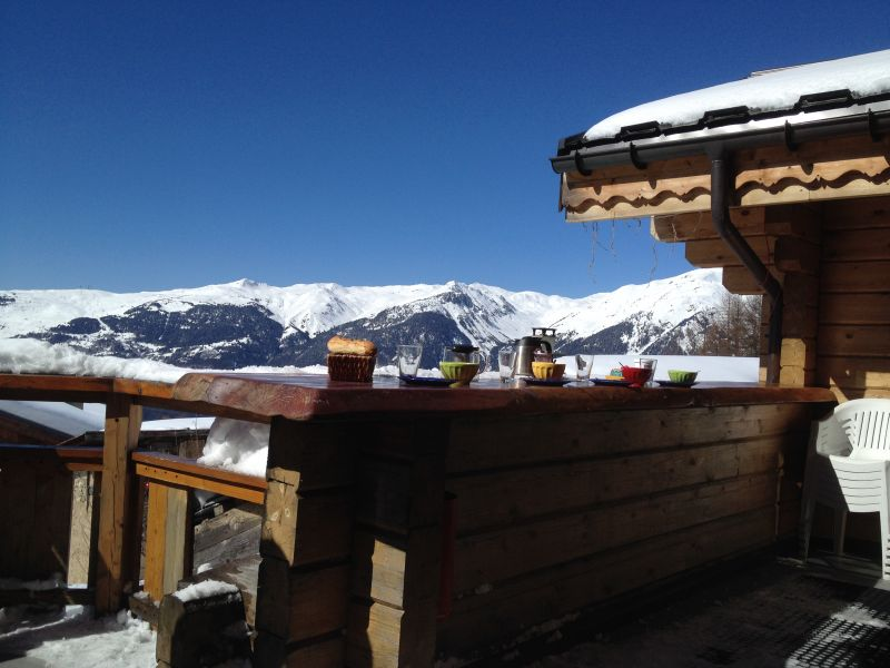 View from the terrace Location Chalet 2248 La Plagne
