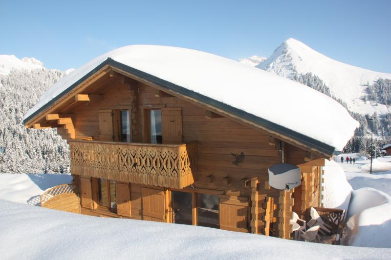 View of the property from outside Location Chalet 2379 Praz de Lys Sommand