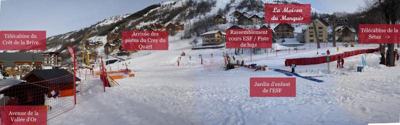 Area map Location Apartment 26150 Valloire