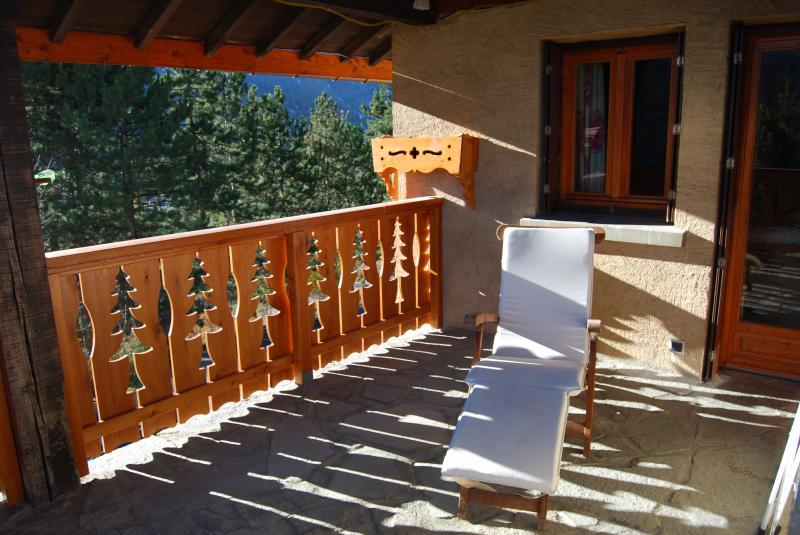 View from the terrace Location Chalet 2972 Serre Chevalier