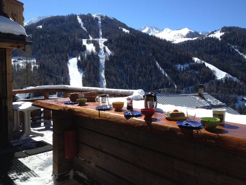 View from the terrace Location Chalet 31596 La Plagne