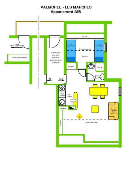 Map of property Location Apartment 3498 Valmorel