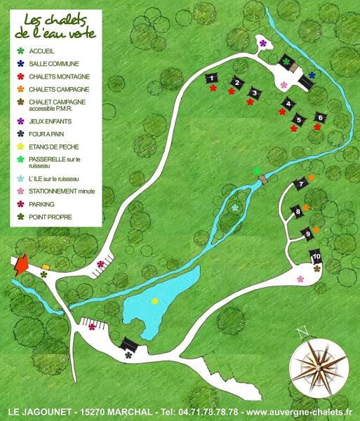 Map of property Location Chalet 3790 Besse - Super Besse