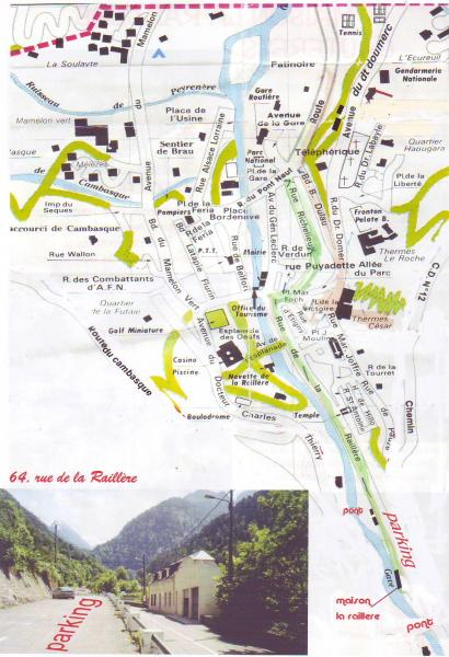 Map of property Location Apartment 4086 Cauterets