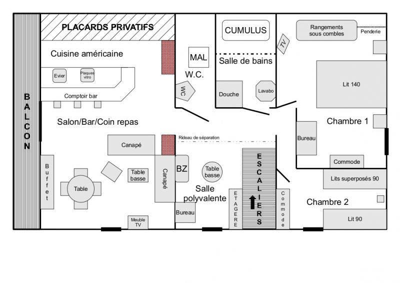 Map of property Location Chalet 4356 Loudenvielle
