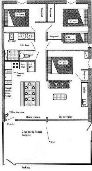 Map of property Location Apartment 4397 Saint Lary Soulan