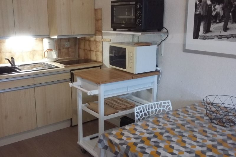 Kitchenette Location One-room apartment 4436 Saint Lary Soulan