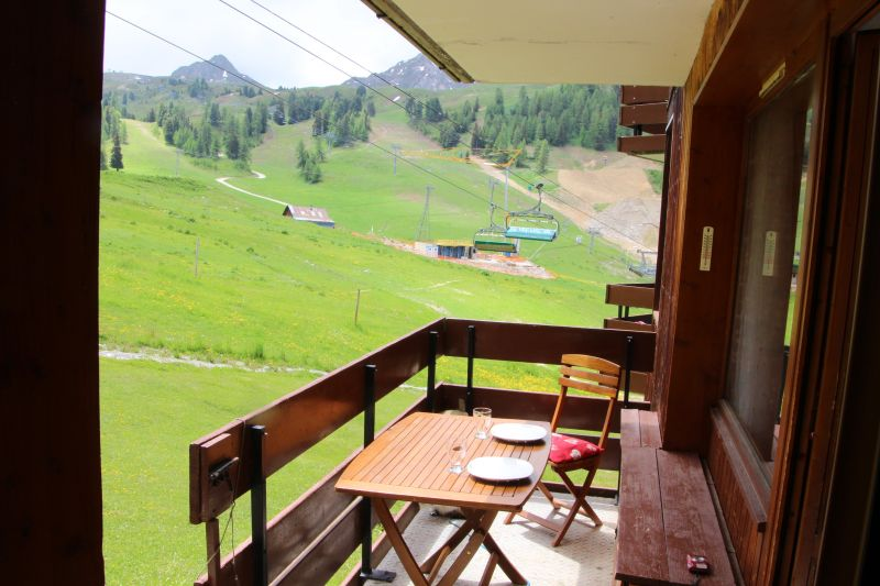 View from the balcony Location One-room apartment 48754 La Plagne