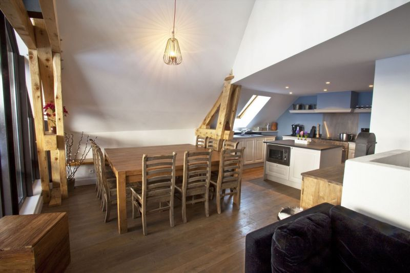 Open-plan kitchen Location Apartment 50293 Valloire