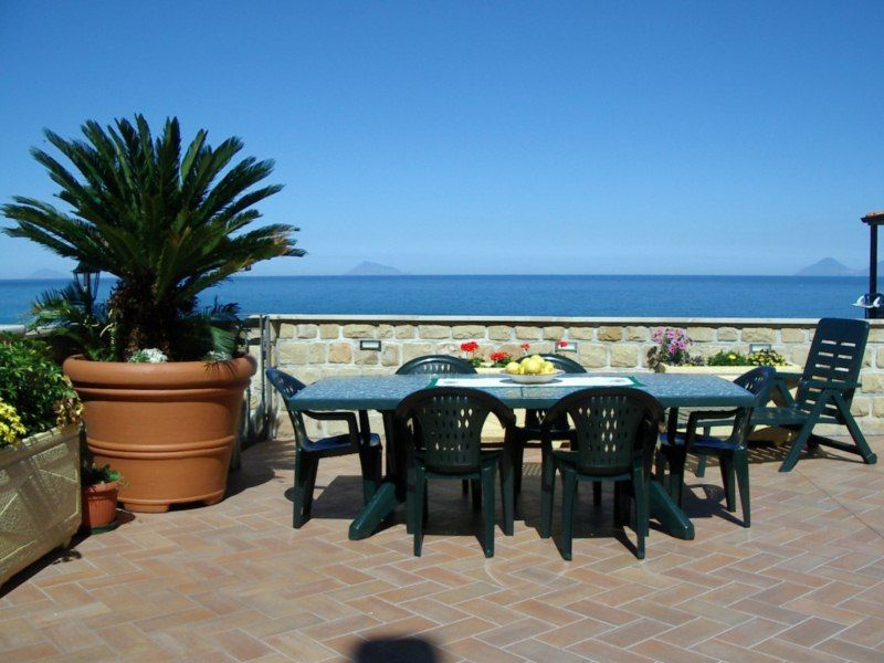 View from the terrace Location Villa 54358 Capo d'Orlando