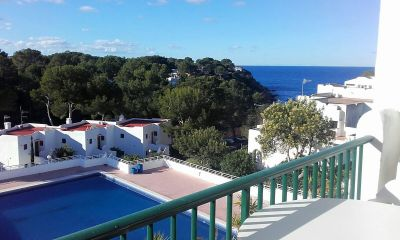 View from the balcony Location One-room apartment 54638 Cala Tarida